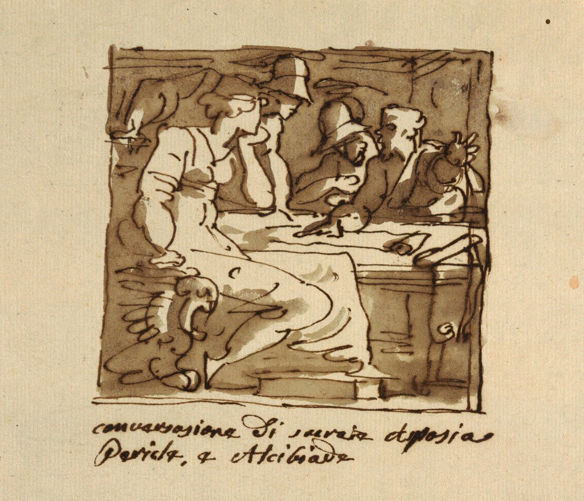 Anonymous drawing of Aspasia and Pericles.