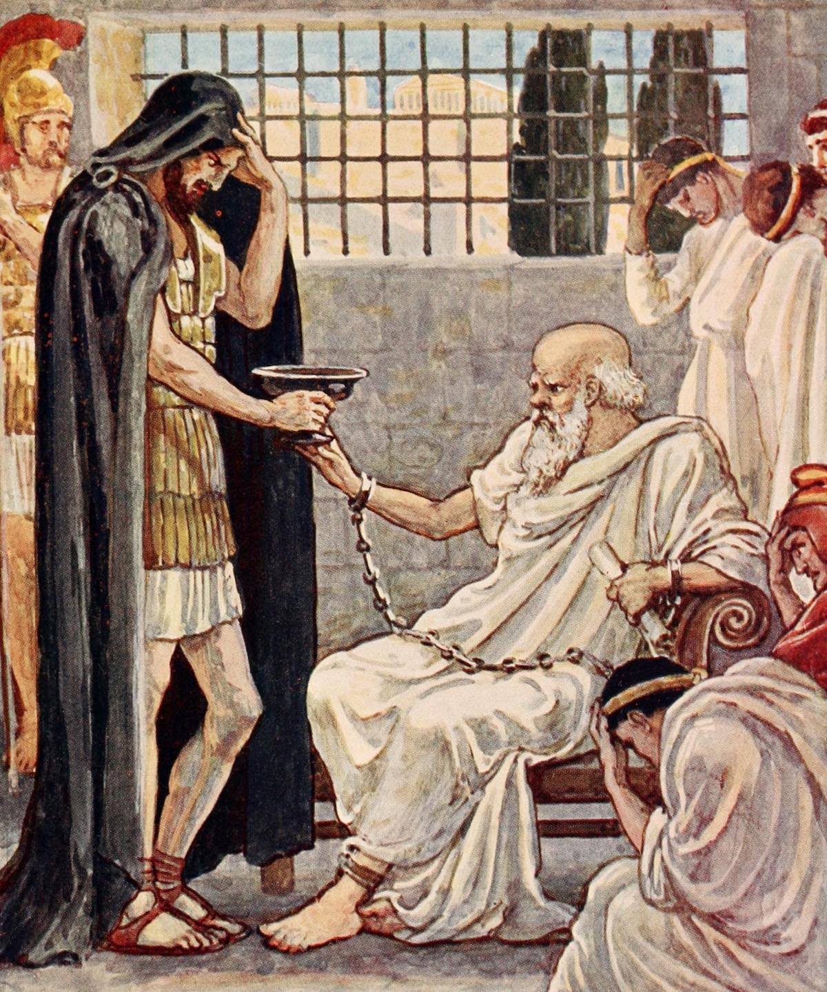 Illustration of the death of Socrates