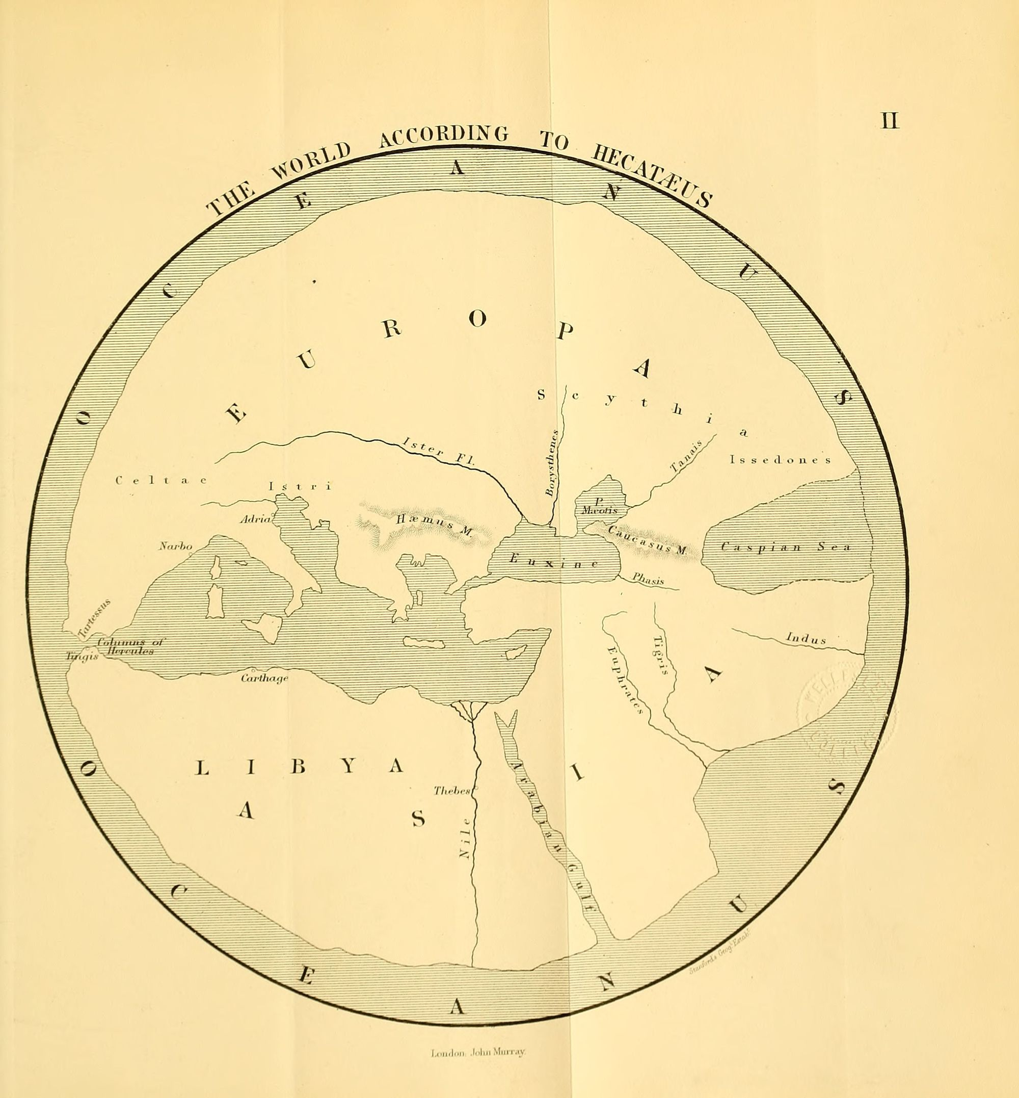 Image of world map by Hecataeus.