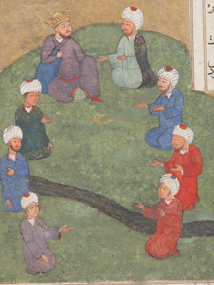 Image of Alexander and the seven sages.