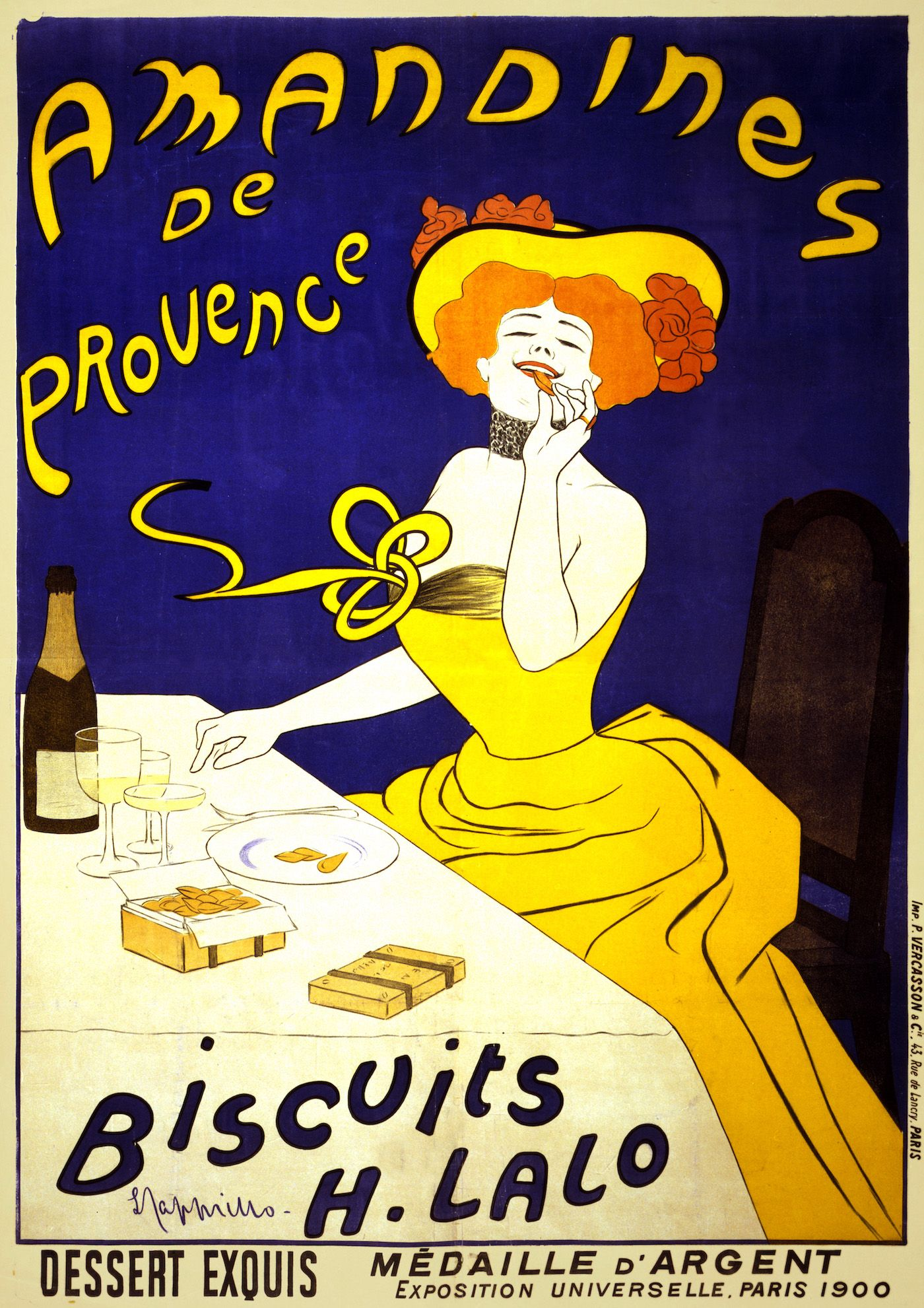Poster of woman eating biscuits.