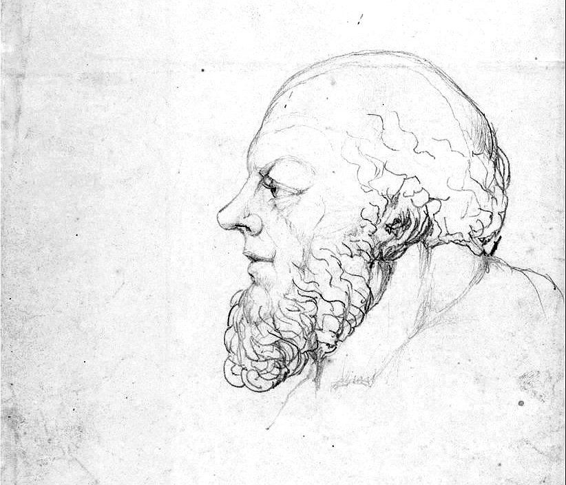 Drawing of Socrates by William Blake